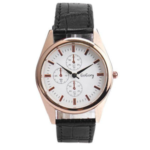 High Quality Leather Men's Quartz Watch