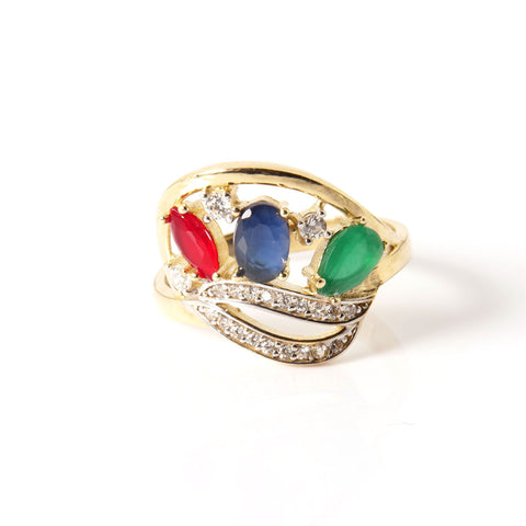 14K Gold and Gems Women's Ring