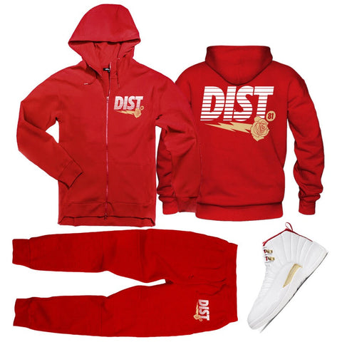 Image of The D81 Red Dragon Tech Fleece Jogging suit - District81 Clothing