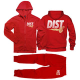 The D81 Red Dragon Tech Fleece Jogging suit - District81 Clothing