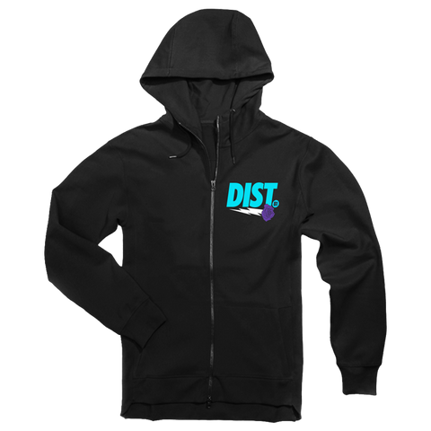 Image of DIST 81 Tech Fleece Hoodie & Joggers *Turquoise, Purple & White* - District81 Clothing