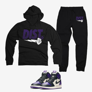 District 81 Jordan 1 Court Purple - District81 Clothing