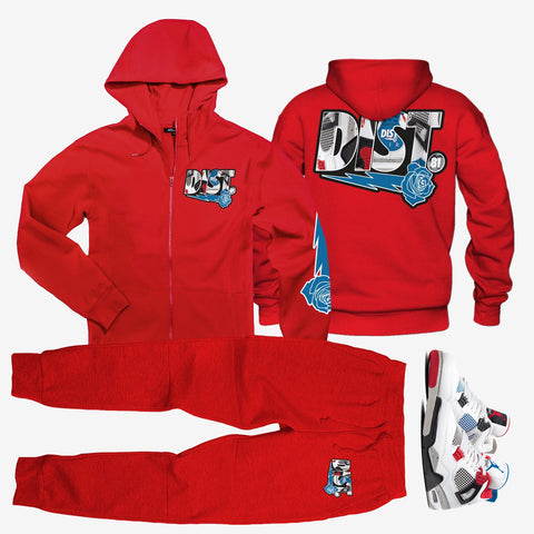 Triple play 4 Red (zip up) - District81 Clothing