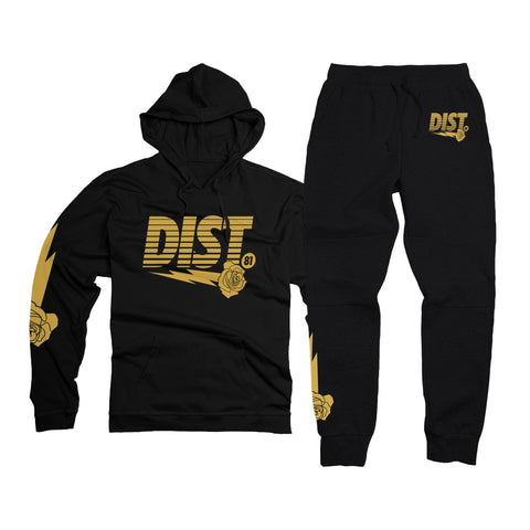Black with Metallic Gold - District81 Clothing