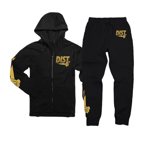 Black wiith Metallic Gold - District81 Clothing
