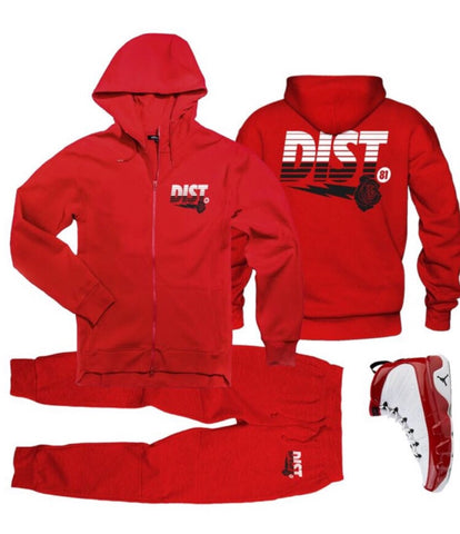 The Bred Red Tech Fleece Jogging Suit - District81 Clothing