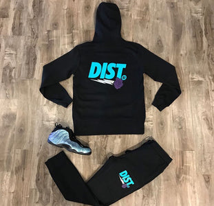 DIST 81 Tech Fleece Hoodie & Joggers *Turquoise, Purple & White* - District81 Clothing