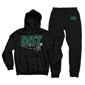D81 Pine Green Tech Fleece Pull Over Jogging Suit - District81 Clothing