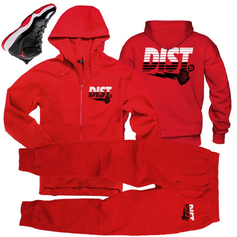 Breaded up ( red zip up) - District81 Clothing