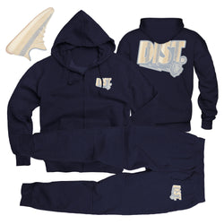 The Crushed Linen Tech Fleece Jogging Suit - District81 Clothing
