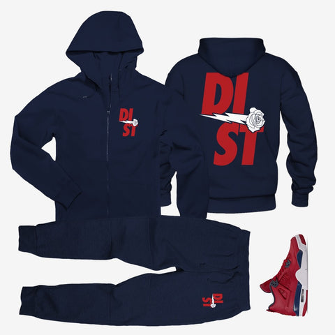 Star Spangle Banner Zip Up - District81 Clothing