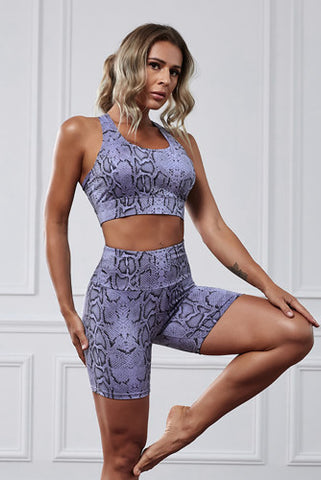 CHIC Animal print Fitness Shorts Set