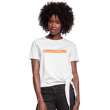 Women's Knotted T-Shirt - white