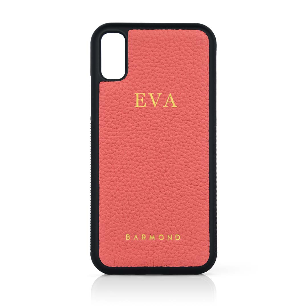 Coque iPhone Cuir Veau Rose Incarnadin