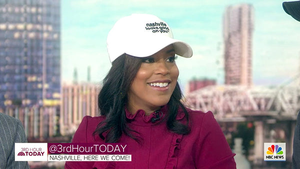 Sheinelle Jones 3rd hour TODAY SHOW in Nashville Looks Good On You hat