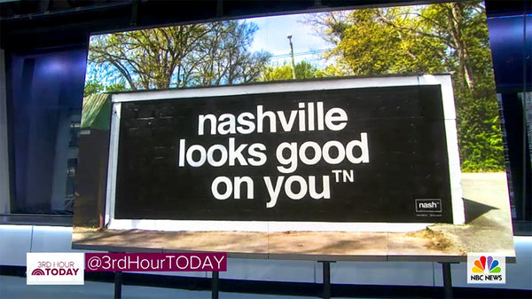 TODAY SHOW comes to Music City and stops by Nashville Looks Good On You mural