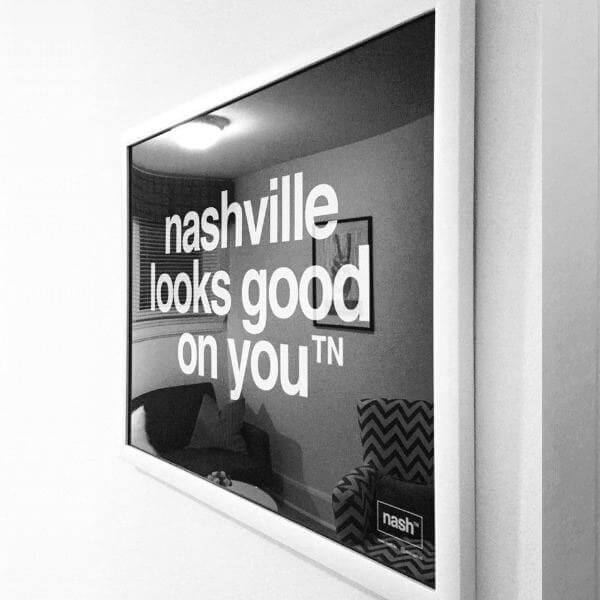 framed nashville wall art nashville looks good on you framed poster print