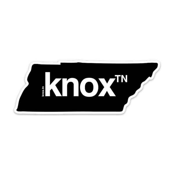 knoxville looks good on you knoxᵀᴺ sticker TN Tennessee state shaped