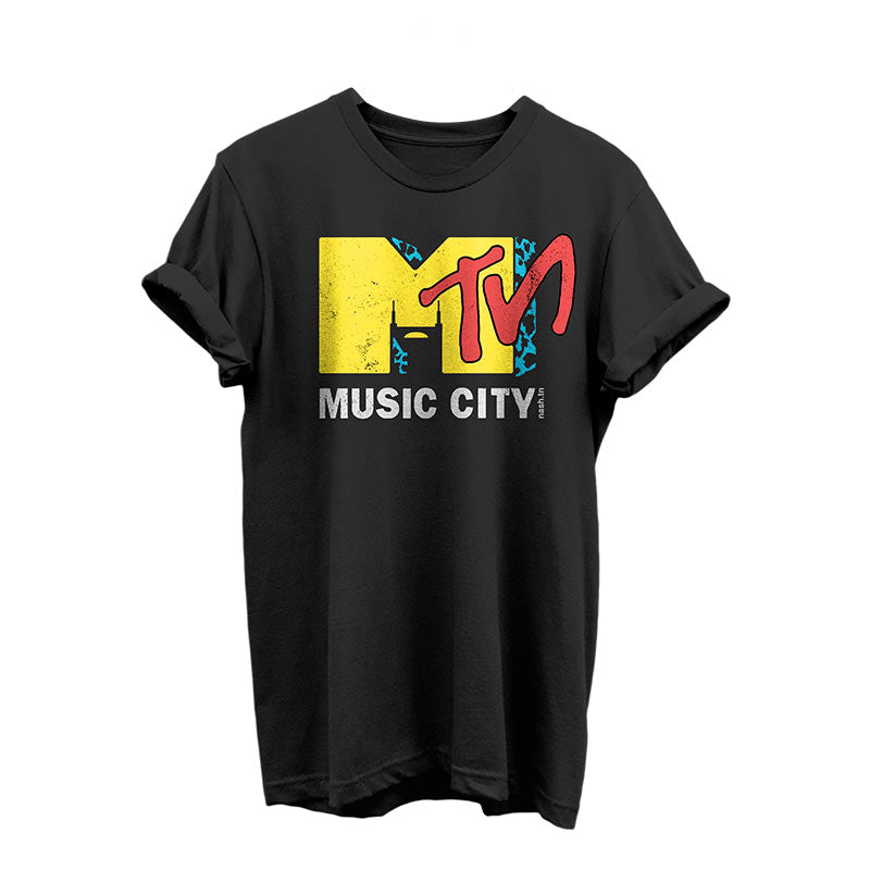 nashville Music City shirt like a vintage mtv tshirt