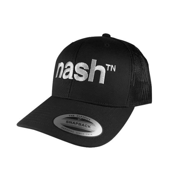 nashville hat black retro trucker