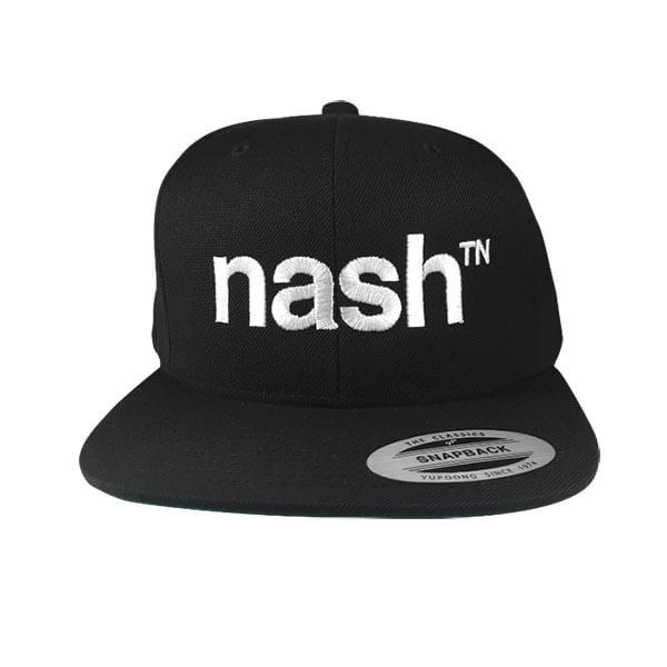 Nashville Hat Flat Bill Black