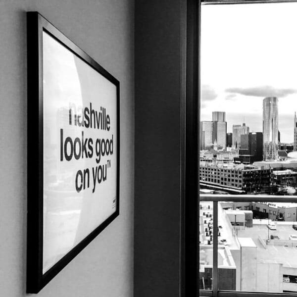 nashville print inside downtown condo nashville looks good on you poster