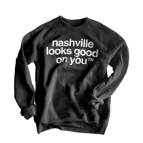 Nashville Tennessee Sweatshirt Crew Neck black