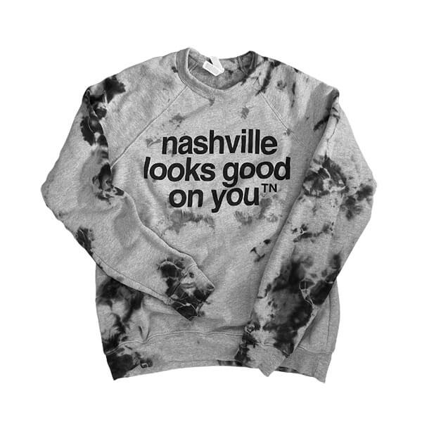 soft nashville tennessee sweat shirt tie dyed shirt TN nashville looks good on you sweatshirt