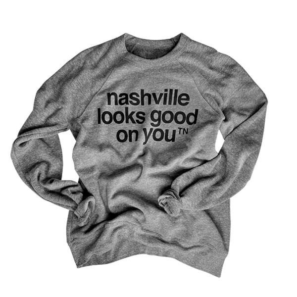 Nashville Sweatshirt Crew Neck Gray