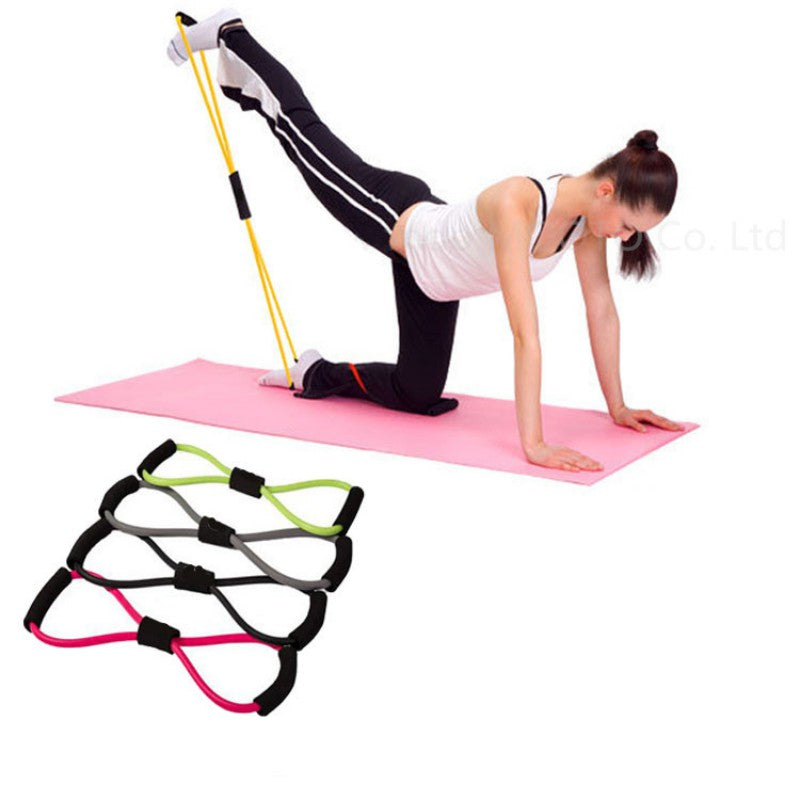 Resistance Training Bands Tube Workout Exercise for Yoga 8 Types Body Building Fitness Equipment Tool