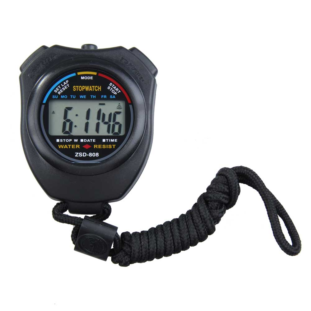 New Outdoor Stopwatch Professional Handheld Digital LCD Display Sports Running Timer Chronograph Counter Timer with Strap