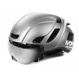 Magnetic Suction Bicycle Helmet And Helmet Lens Integrated In