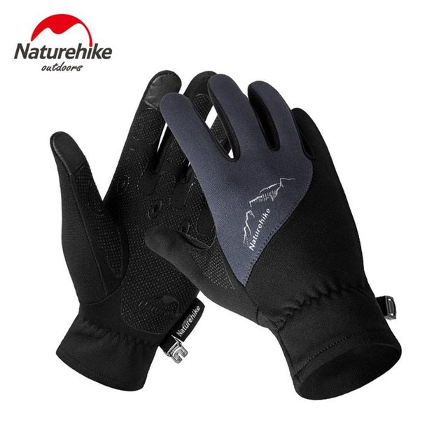 Fleece Outdoor Sports Gloves Windproof Touch Screen Full Finger Gloves