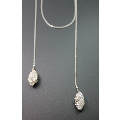 double draping marquise necklace with choker