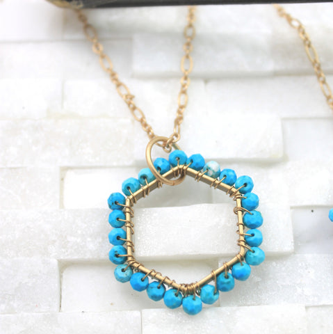 Turquoise layering necklace large