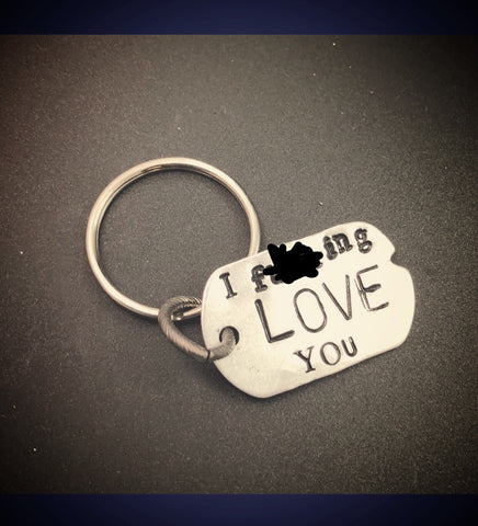 'I f**kin love you'keychain gift.