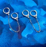 Huggie double ended handcuff earring. Sterling silver
