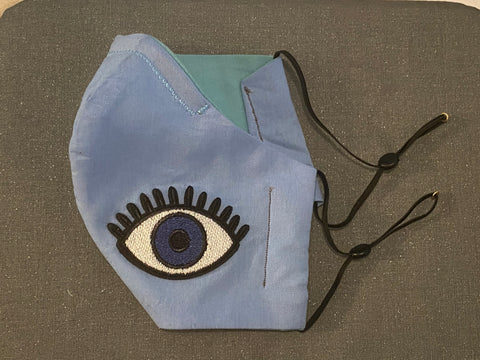 Premium Fabric face cover- evil eye talisman