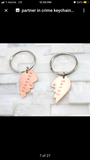 Partner in crime keychain set