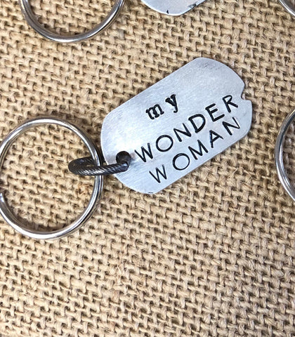 My Wonder Woman - keychain gift for her
