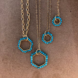 Turquoise layering necklace set 4