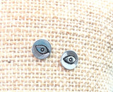 Eye talisman. Evil eye sterling silver stud post