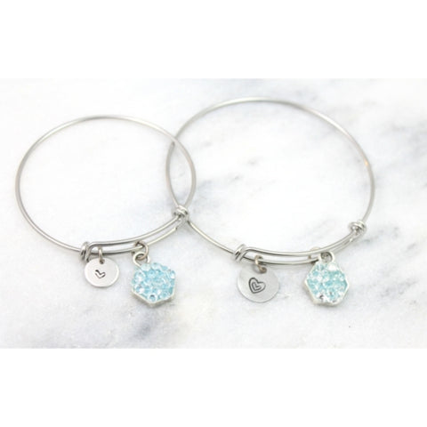 Mother & daughter bangle set. I carry your heart in my heart