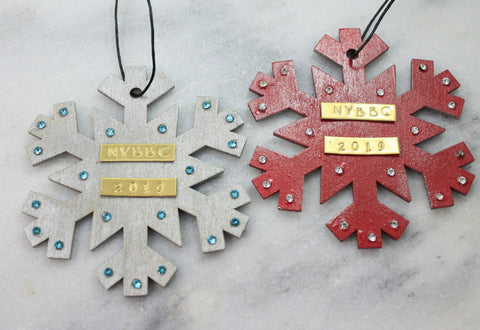 2019 Christmas ornament snowflake-NYBBC