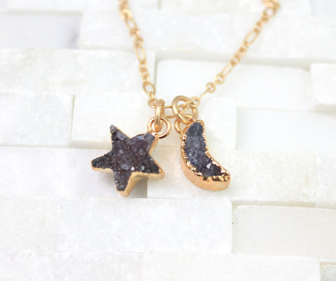 Moon and stars necklace- you are my moon and stars