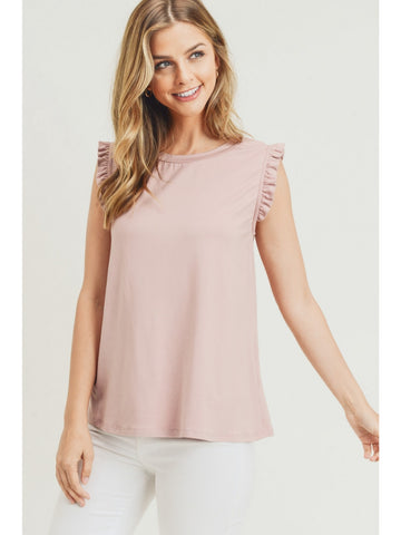 Ruffle Sleeve Tank Top