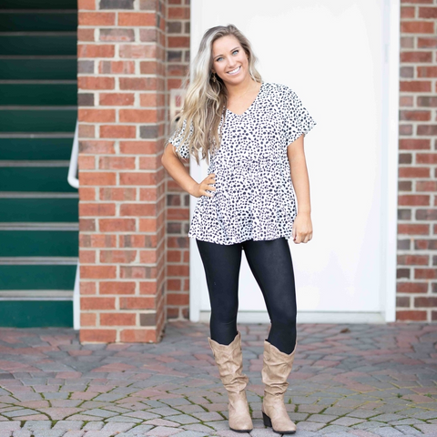 Bethany Dalmation Spot Top