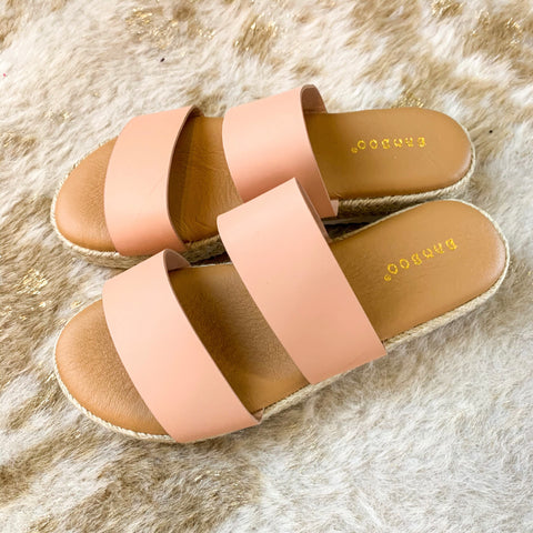Blush You Wedge Slides