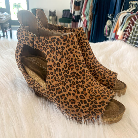 Sunburst Leopard Wedges