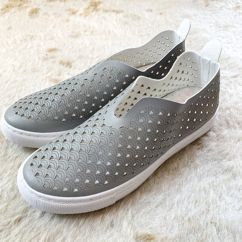 Cut Out Boat Shoe Grey